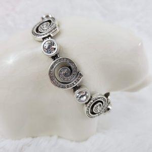 Brighton Whirlpool Silver Crystal Bracelet